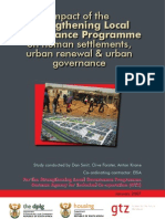 Strengthening Local Governance Programme - Impact on Human Settlements, Urban Renewal and Urban Go