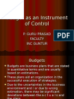 BUDGETS - management control systems-