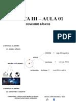 FÍSICA III - AULA 01 CONCEITOS BÁSICOS