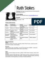 Ruth Stokes Acting CV