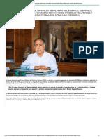 20-07-2021 Reconoce El Gobernador Astudillo Resolutivo Del Tribunal Electoral Del Estado de Guerrero