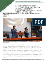 """29-07-2021 Participa Astudillo a la develación de la inscripción de la leyenda """"2021 Bicentenario de la Creación de la Armada de México"""""""
