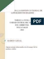 POLITICA PARA LA GESTION INTEGRAL DE LOS RESIDUOS SOLIDOS