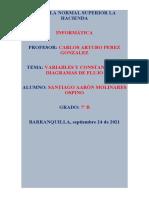 DIAGRAMA DE VARIABLES Y CONSTANTES