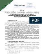 Ghidul lucrarilor de licenta si disertatie 2010-2011