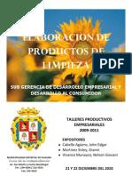 ELABORACION DE PRODUCTOS DE LIMPIEZA