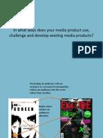 Media essay 1- Powerpoint.