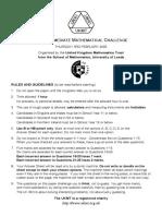 UKMT - IMC - Intermediate Mathematical Challenge 2005 - Questions