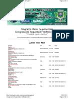 convocatoria y programa