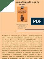 A dinâmica da participação local no Brasil