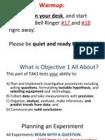 TAKS Blitz Day 1 PowerPoint