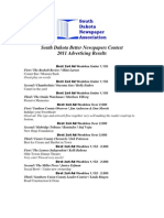 2011 SDNA Advertising Contest Results