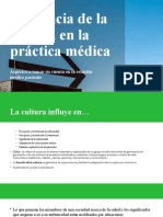 Influencia de la cultura en la práctica médica (clase 5)