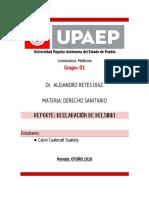 DECLARACIÓN DE K. DERECHO