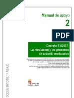 Manual Mediación y Proceso acuerdo educativo. Junta de Castilla y León