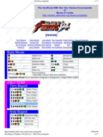 King of Fighters 94 Moves