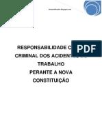 Responsabilidade Civil e Criminal Dos Acidentes de Trabalho