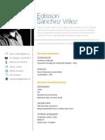 Hoja de vida Edisson Sánchez
