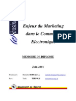 Enjeux du Marketing dans le Commerce Electronique