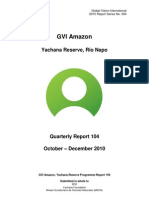 GVI Amazon Phase Report 104 October-December 2010