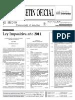 Ley impositiva 2011