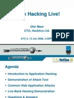 Bank Hacking Live - CSI NetSec 2006