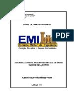 Perfil de automatizacion del PSGH quinua