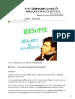 Commentairecompose.fr-bel-Ami Maupassant Résumé