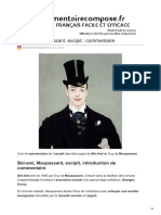 Commentairecompose.fr-bel-Ami Maupassant Excipit Commentaire