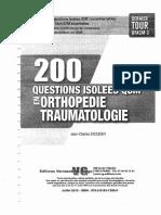 200 Questions Isolées en QCM-Orthopédie Traumatologie