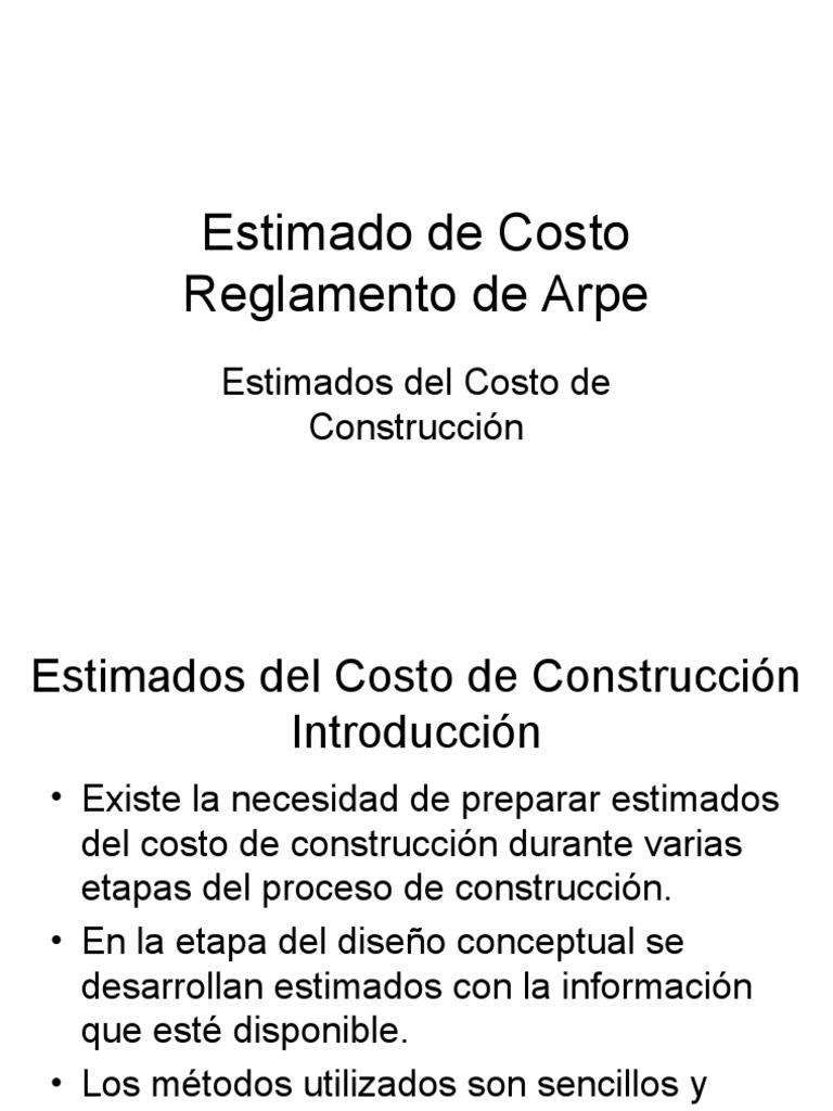 estimadosdelcostodeconstruccinparte1 090224061135 phpapp01