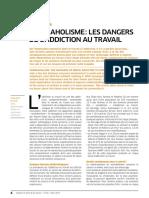 ARTICLE INRS Workaholisme