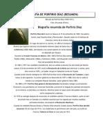 BIOGRAFÍA DE PORFIRIO DÍAZ