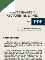 Redes Sociales Universidad y Rectores