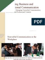 COM 1053 - Nonverbal Chapter 4