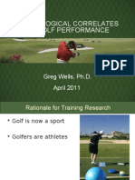 Physical training for Golf OGA 2011