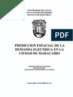 Predicción Espacial de la Demanda Eléctrica en la Ciudad de Maracaibo.