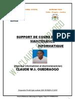 M. CLAUDE OUEDRAOGO Maintenance_informatique 1