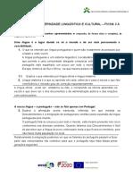 Diversidade Linguística e Cultural - Ficha 3 A
