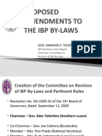 PROPOSED AMENDMENTS TO THE IBP BY-LAWS
