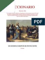 XIX Domingo Después de Pentecostés. Leccionario