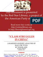 Class Struggles in China