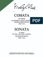 Бах_BWV 1034_Соната e-moll для флейты и бассо континуо