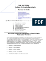 THE BACTERIA Metabolism- Antibiotics