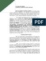 2 DILIGENCIAS DE NOTIFICACIÓN JUDICIAL SOBRE TERMINACIÓN DE CONTRATO (ARRENDAMIENTO)