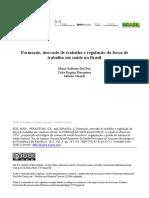 Regulação e Formação das profissões de saúde