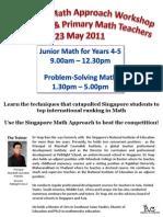 workshop registration flyer