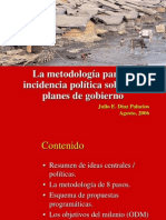 metodologia incidencia