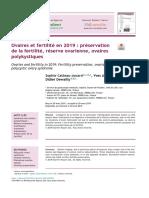 EMC Ovaires et fertilité en 2019 préservation