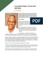 David Granger Promises Hope, Revival and Purposeful Leadership